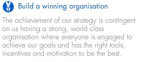Build a winning organisation
