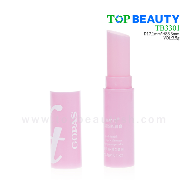 Cylinder plastic lip balm tube container packaging(TB3301)