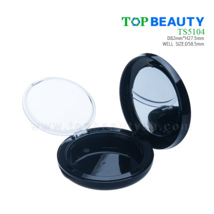 Round plastic compact case BB case with single well with mico dome cover TP5105