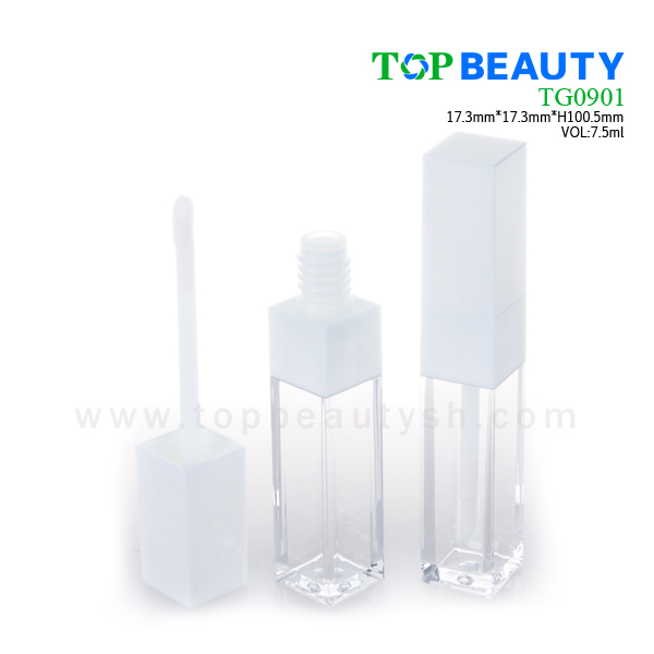 Square clear plastic empty lip gloss(TG0901)