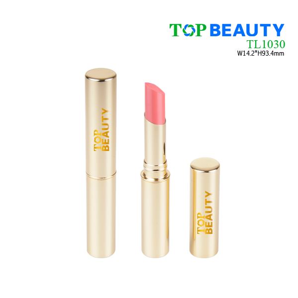 Cylinder aluminum slim lipstick tube packaging container TL1030