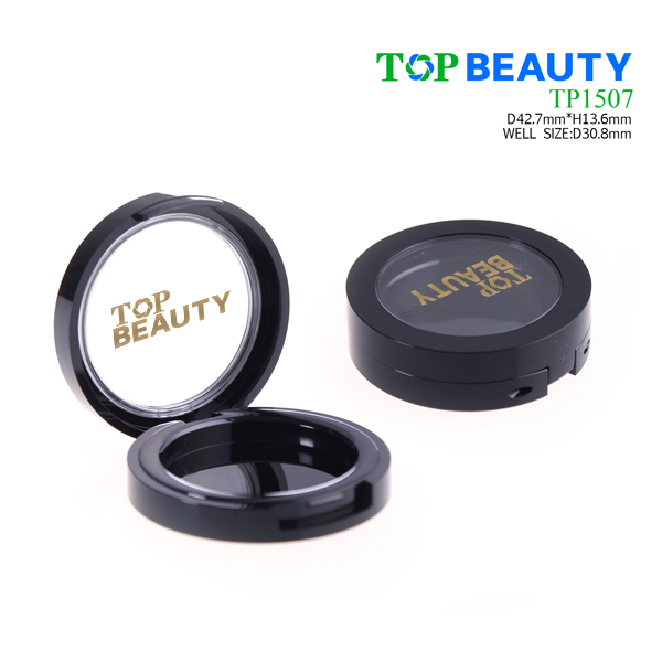 Round single well powder compact container with clear window (TP1507)