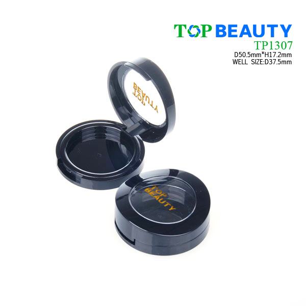 Round powder container with flat top cover(TP1307)