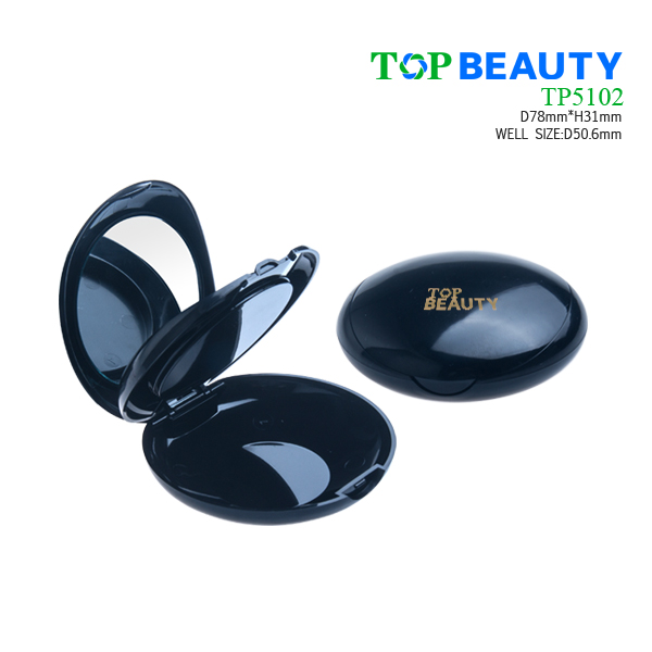 Round plastic compact single well case TP5103