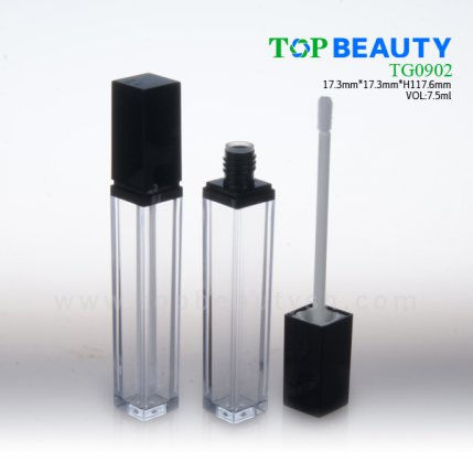 Square clear plastic empty lip gloss(TG0902)