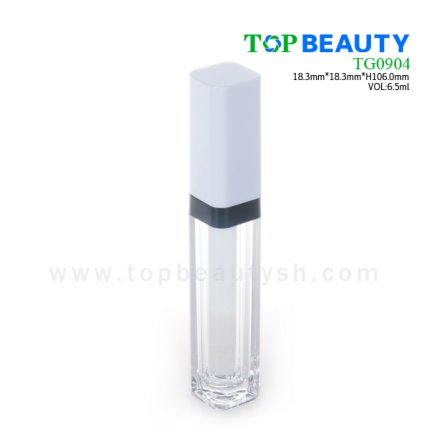Square clear plastic empty lip gloss(TG0904)