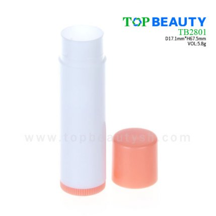 Cylinder plastic  lip balm container (TB2801)