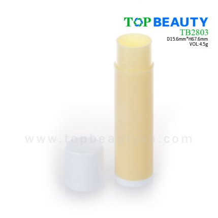 Cylinder plastic  lip balm container (TB2803)