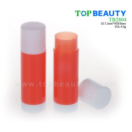 Cylinder plastic lip balm container (TB2804)