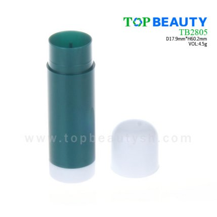 Cylinder plastic  lip balm container (TB2805)