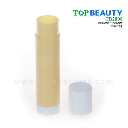 Cylinder plastic  lip balm container (TB2806)
