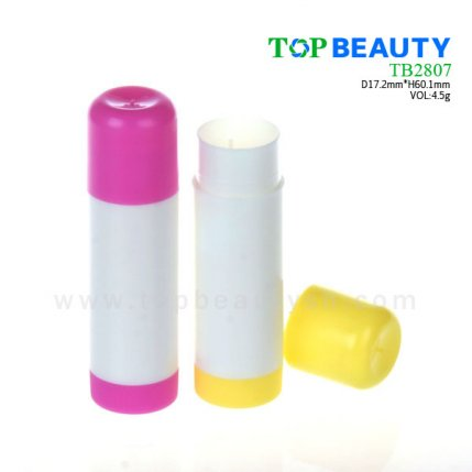 Cylinder plastic  lip balm container (TB2807)