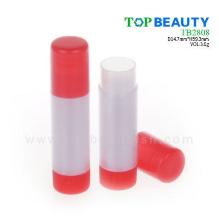 Cylinder plastic lip balm container (TB2808)