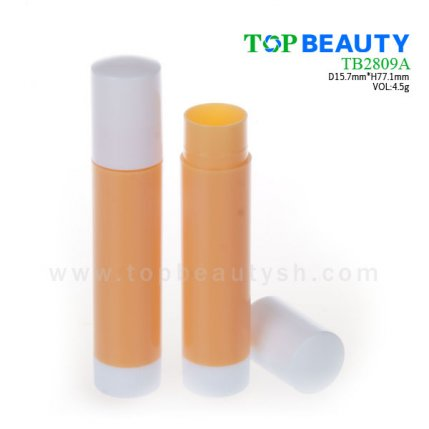 Cylinder plastic  lip balm container (TB2809A)