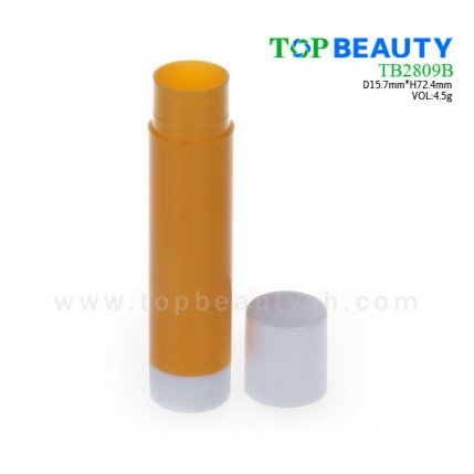 Cylinder plastic  lip balm container (TB2809B)