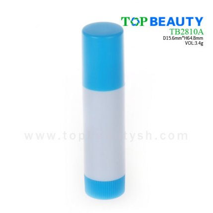 Cylinder plastic  lip balm container (TB2810A)