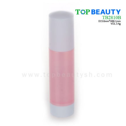 Cylinder plastic  lip balm container (TB2810B)