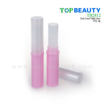 Cylinder plastic  lip balm container (TB2812)