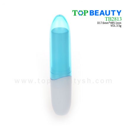 Cylinder plastic  lip balm container (TB2813)