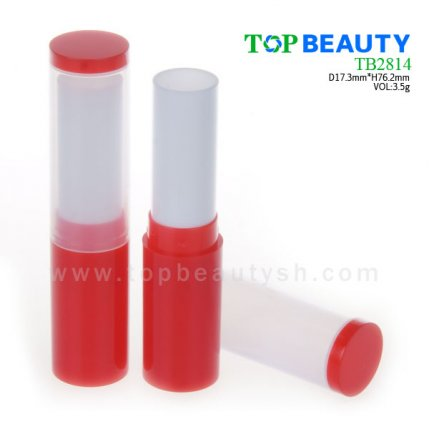 Cylinder plastic  lip balm container (TB2814)