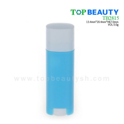Cylinder plastic  lip balm container (TB2815)
