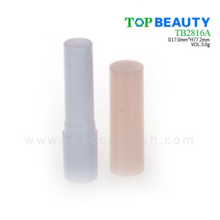 Cylinder plastic  lip balm container (TB2816A)