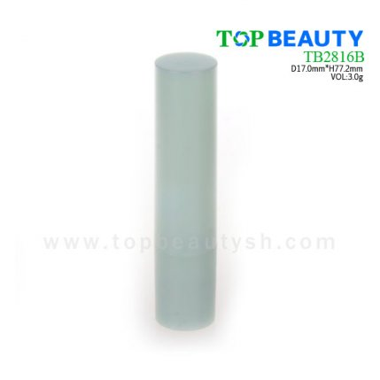 Cylinder plastic  lip balm container (TB2816B)
