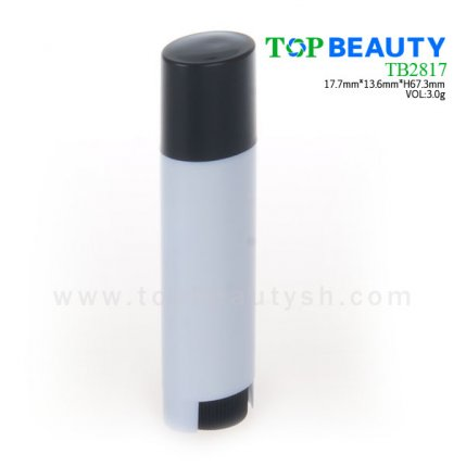 Cylinder plastic  lip balm container (TB2817)