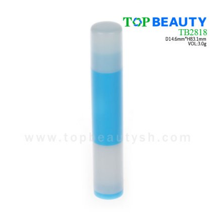Cylinder plastic  lip balm container (TB2818)