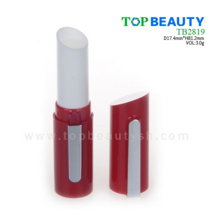 Cylinder plastic  lip balm container (TB2819)