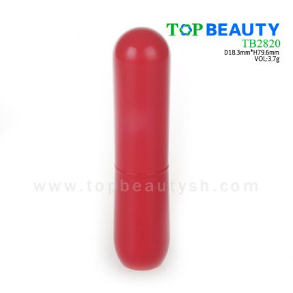 Cylinder plastic lip balm container (TB2820)