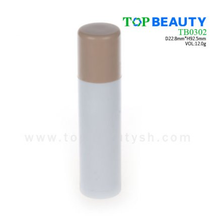 Cylinder plastic lip balm container (TB0302)