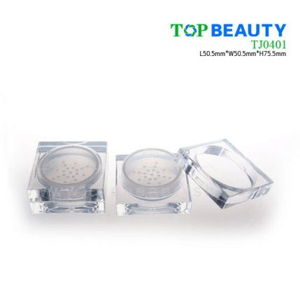 2 in 1 square loose powder container(TJ0401)