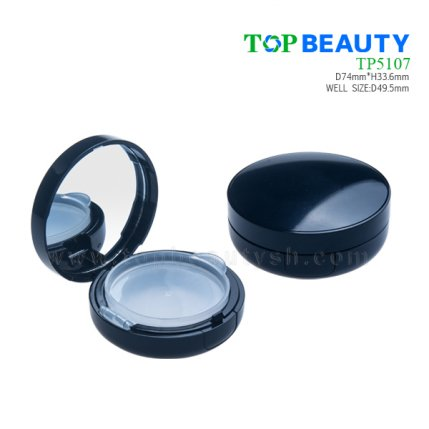 Round  plastic compact case BB case with single well TP5107