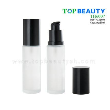 30ml Round lotion pump glass bottle TH6007