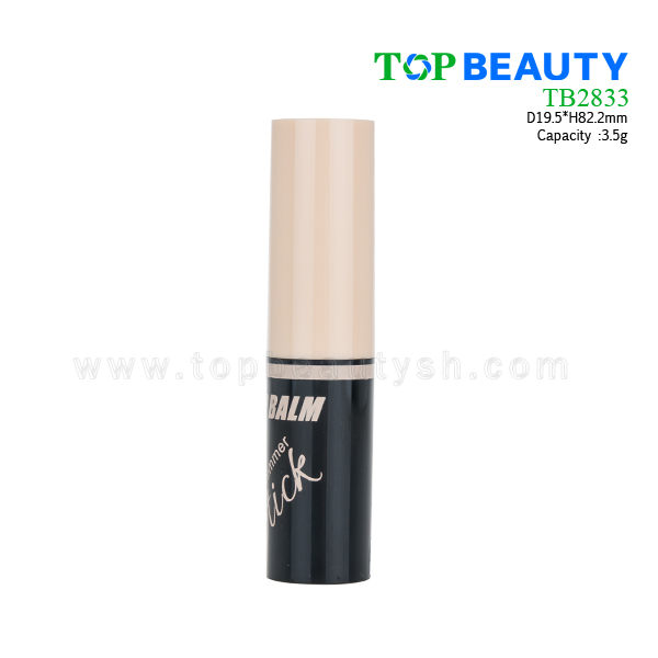 Cylinder Plastic Lip Balm Container  (TB2833)
