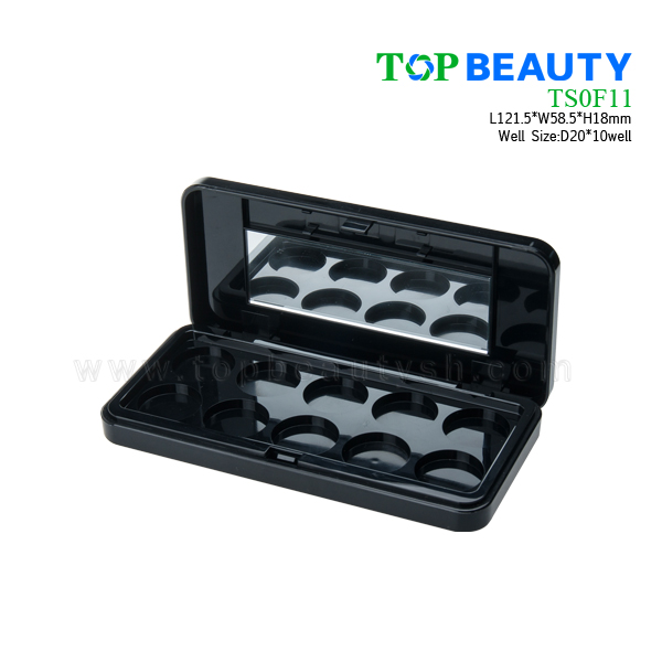 Rectangle Eye Shadow Case with 10 Wells(TS0F11)