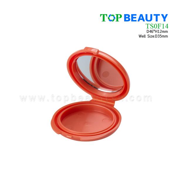 Plastic Eye Shadow Case with Single Well(TS0F14)