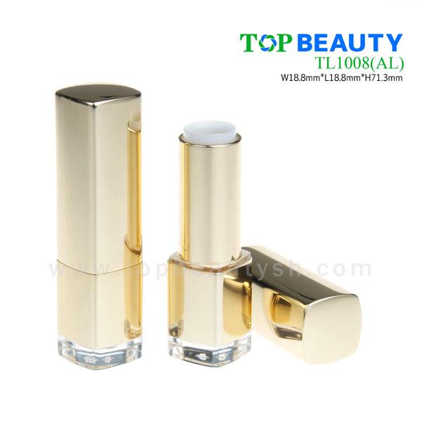 Square aluminum lipstick case tube (TL1008)
