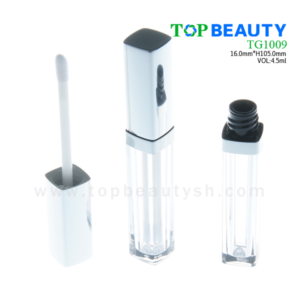 Square thick wall lipgloss tube packaging container(TG1009)