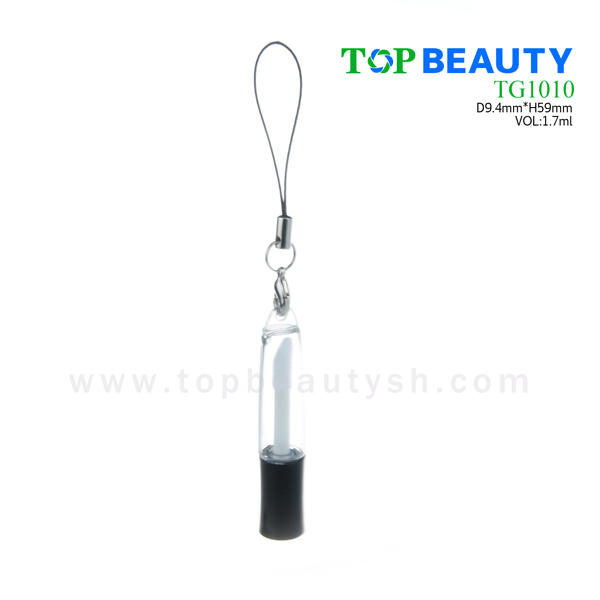 Mini lipgloss tube packaging container with hook (TG1010)