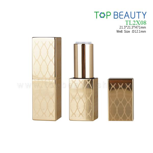Square MAGNET Aluminum lipstick tube (TL2X08)