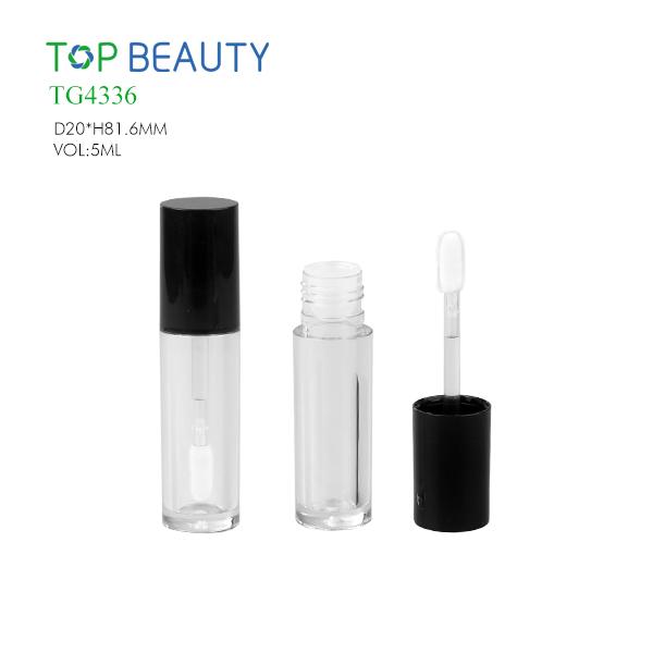 New Round Clear Plastic Lip Gloss Tube(TG4336)