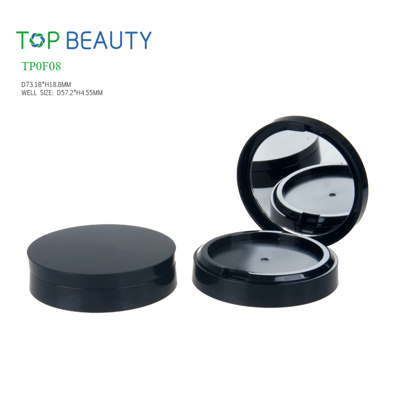New Round plastic compact Double layre case (TP0F08)