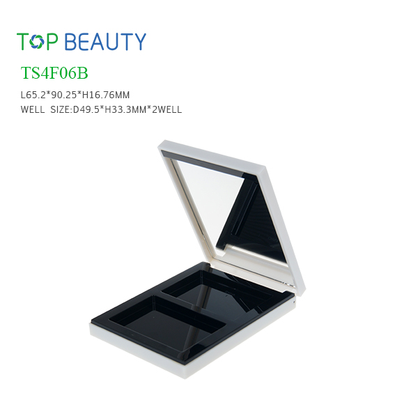 New Rectangle 2 Well Eyeshadow Container (TS4F06B)