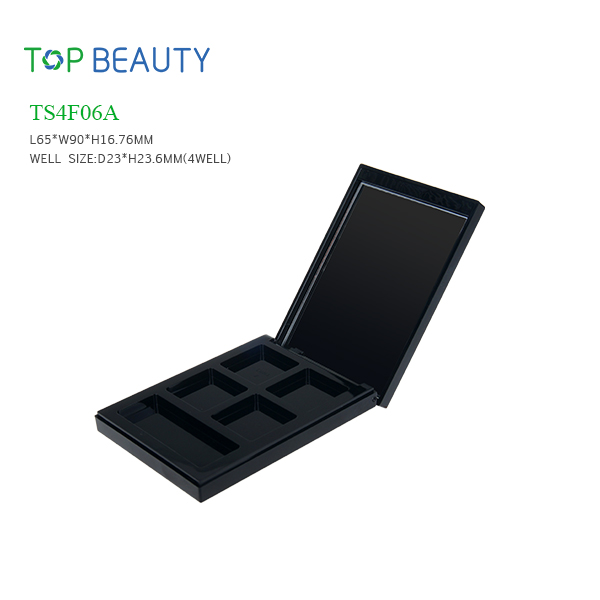 New 4 well Rectangle Eye shadow Container  (TS4F06A)