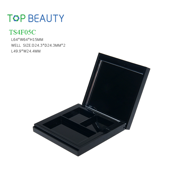 New Square 3 Well Eye Shadow Case (TS4F05C)