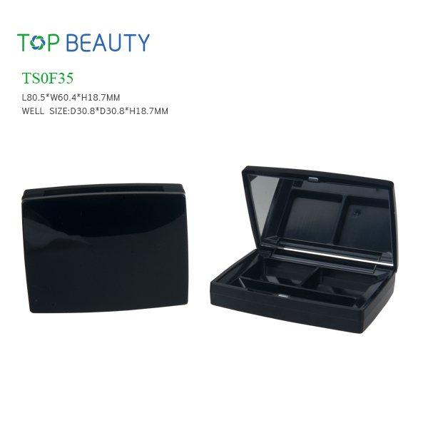 New Rectangle 2 Well Eye shadow case (TS0F35)