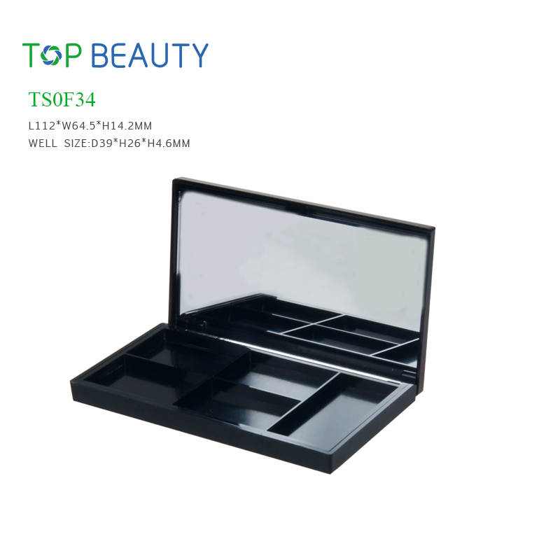 New Rectangle 4 well Eye shadow Case (TS0F34)