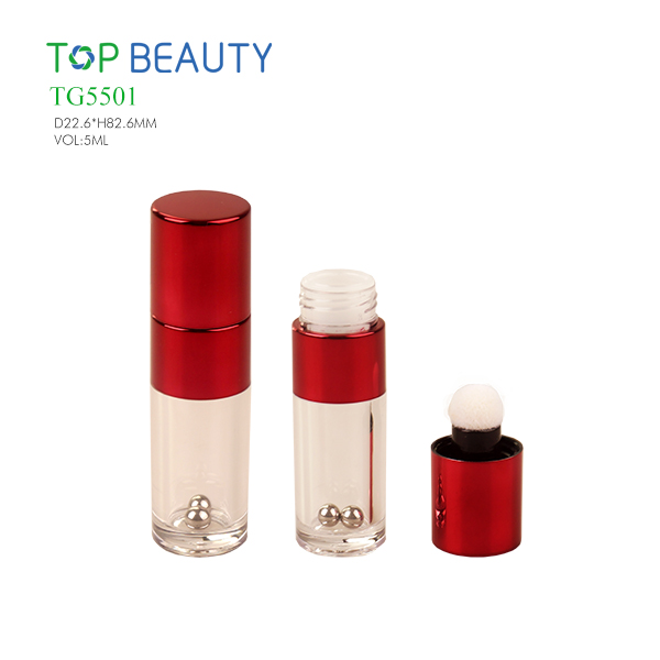 New Specical Round Clear Lip Gloss Tube with steel balls (TG5501)